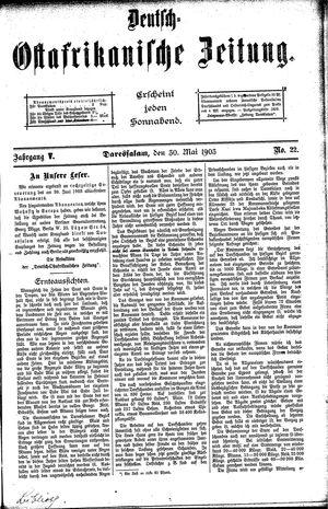 Deutsch-Ostafrikanische Zeitung on May 30, 1903