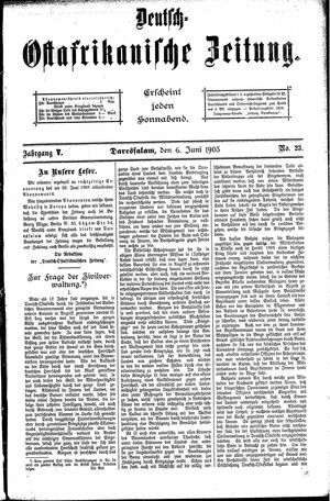 Deutsch-Ostafrikanische Zeitung vom 06.06.1903