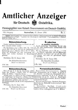 Deutsch-Ostafrikanische Zeitung vom 27.01.1906