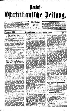 Deutsch-Ostafrikanische Zeitung vom 03.02.1906