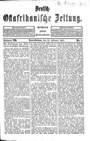 Deutsch-Ostafrikanische Zeitung vom 10.02.1906