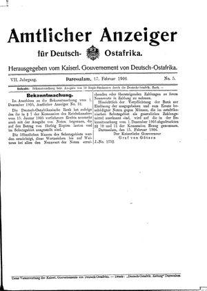 Deutsch-Ostafrikanische Zeitung vom 17.02.1906