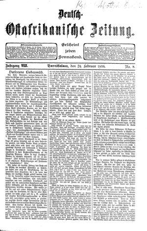 Deutsch-Ostafrikanische Zeitung vom 24.02.1906