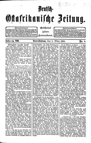 Deutsch-Ostafrikanische Zeitung vom 03.03.1906