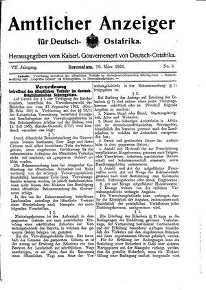 Deutsch-Ostafrikanische Zeitung vom 10.03.1906