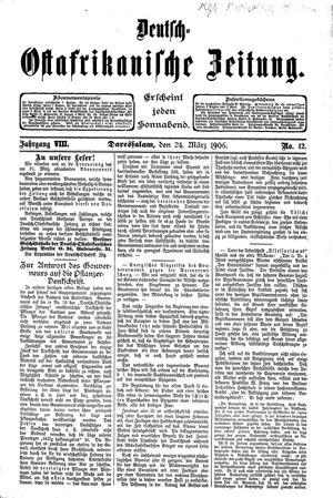 Deutsch-Ostafrikanische Zeitung vom 24.03.1906