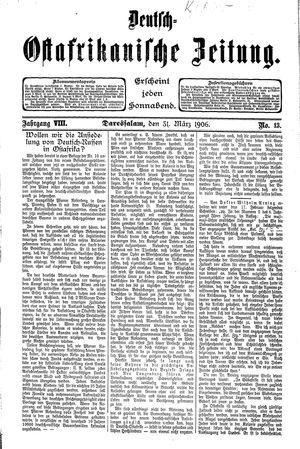 Deutsch-Ostafrikanische Zeitung vom 31.03.1906