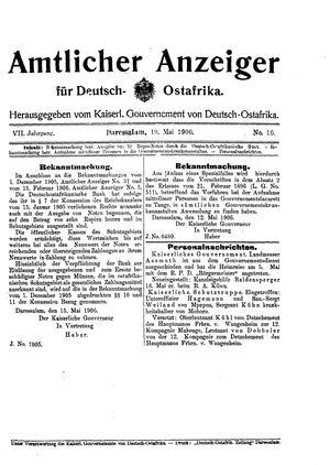 Deutsch-Ostafrikanische Zeitung vom 19.05.1906