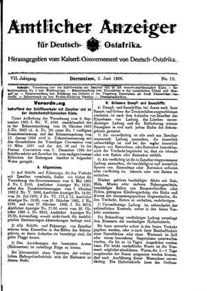 Deutsch-Ostafrikanische Zeitung vom 02.06.1906