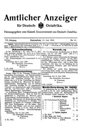 Deutsch-Ostafrikanische Zeitung vom 16.06.1906