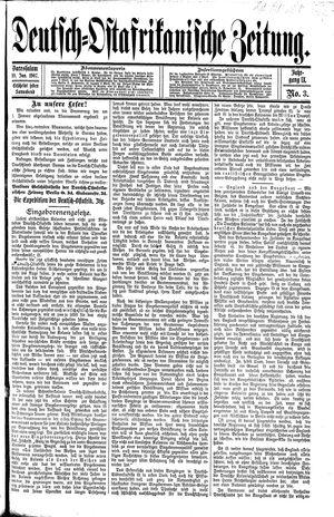 Deutsch-Ostafrikanische Zeitung vom 19.01.1907