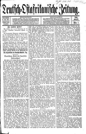 Deutsch-Ostafrikanische Zeitung vom 16.02.1907