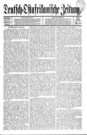 Deutsch-Ostafrikanische Zeitung on Mar 9, 1907
