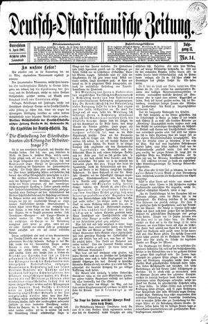 Deutsch-Ostafrikanische Zeitung vom 06.04.1907