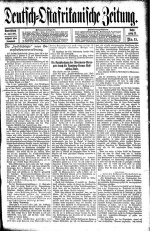 Deutsch-Ostafrikanische Zeitung vom 13.04.1907