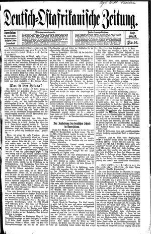 Deutsch-Ostafrikanische Zeitung vom 20.04.1907