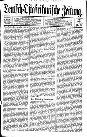 Deutsch-Ostafrikanische Zeitung vom 25.05.1907