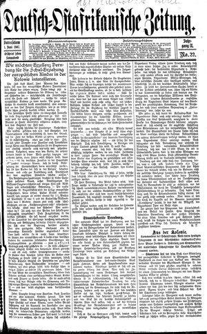 Deutsch-Ostafrikanische Zeitung vom 01.06.1907