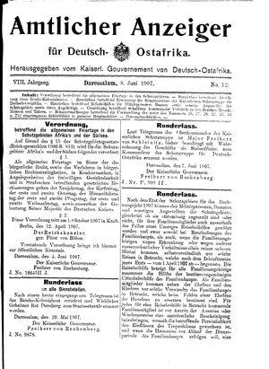 Deutsch-Ostafrikanische Zeitung vom 08.06.1907