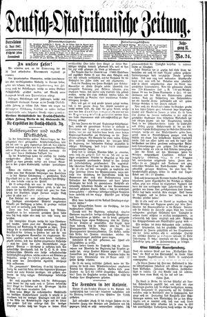 Deutsch-Ostafrikanische Zeitung vom 15.06.1907