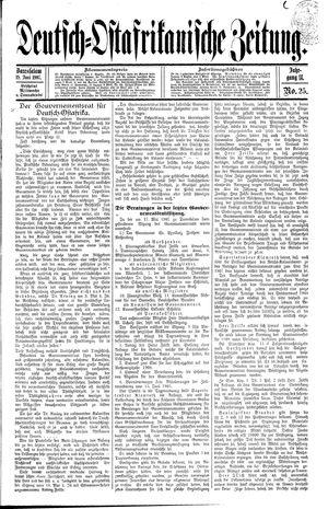 Deutsch-Ostafrikanische Zeitung vom 19.06.1907