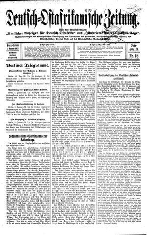 Deutsch-Ostafrikanische Zeitung vom 04.01.1913