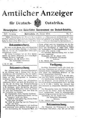 Deutsch-Ostafrikanische Zeitung vom 29.01.1913