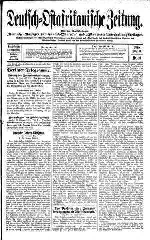 Deutsch-Ostafrikanische Zeitung vom 01.02.1913