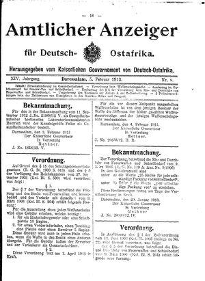 Deutsch-Ostafrikanische Zeitung vom 05.02.1913