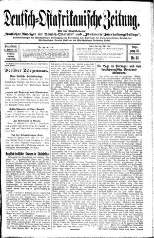 Deutsch-Ostafrikanische Zeitung vom 15.02.1913