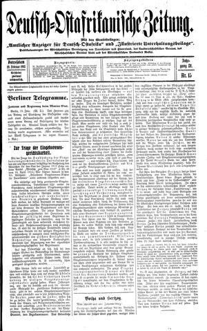 Deutsch-Ostafrikanische Zeitung vom 19.02.1913