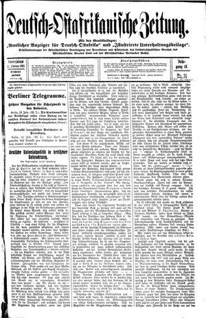 Deutsch-Ostafrikanische Zeitung vom 22.02.1913