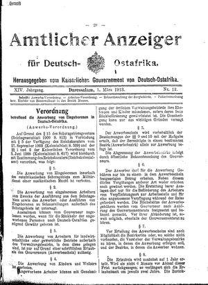 Deutsch-Ostafrikanische Zeitung vom 01.03.1913
