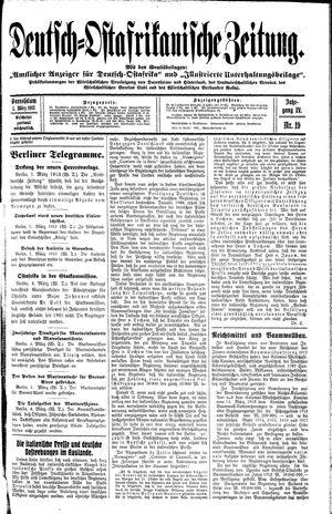 Deutsch-Ostafrikanische Zeitung vom 05.03.1913