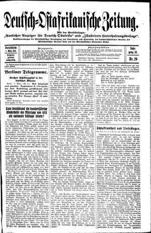 Deutsch-Ostafrikanische Zeitung vom 08.03.1913