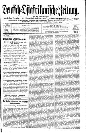 Deutsch-Ostafrikanische Zeitung vom 15.03.1913