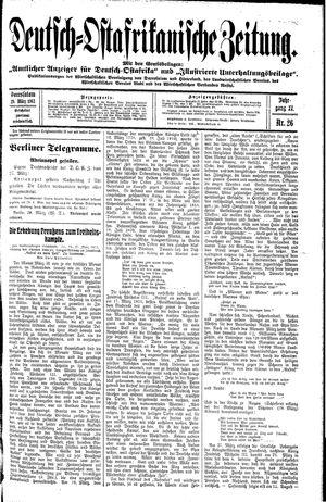 Deutsch-Ostafrikanische Zeitung vom 29.03.1913