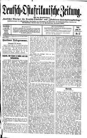 Deutsch-Ostafrikanische Zeitung vom 02.04.1913