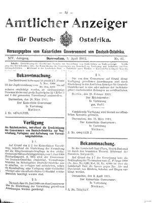 Deutsch-Ostafrikanische Zeitung vom 05.04.1913