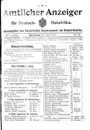 Deutsch-Ostafrikanische Zeitung vom 16.04.1913