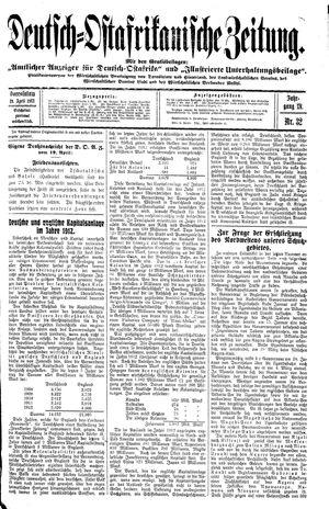 Deutsch-Ostafrikanische Zeitung vom 19.04.1913
