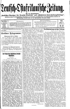 Deutsch-Ostafrikanische Zeitung vom 26.04.1913