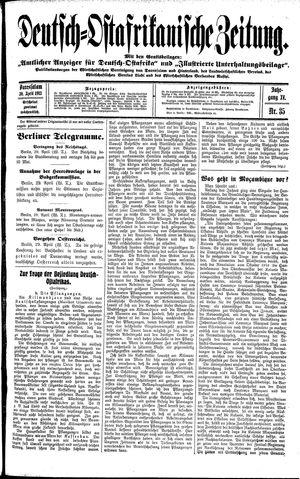 Deutsch-Ostafrikanische Zeitung vom 30.04.1913