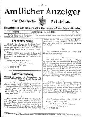 Deutsch-Ostafrikanische Zeitung vom 03.05.1913