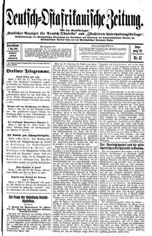 Deutsch-Ostafrikanische Zeitung on May 7, 1913