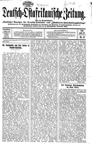 Deutsch-Ostafrikanische Zeitung vom 03.01.1914