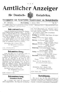 Deutsch-Ostafrikanische Zeitung vom 07.01.1914