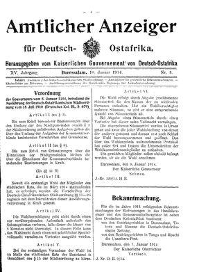 Deutsch-Ostafrikanische Zeitung vom 10.01.1914