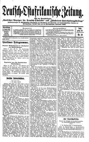 Deutsch-Ostafrikanische Zeitung vom 31.01.1914