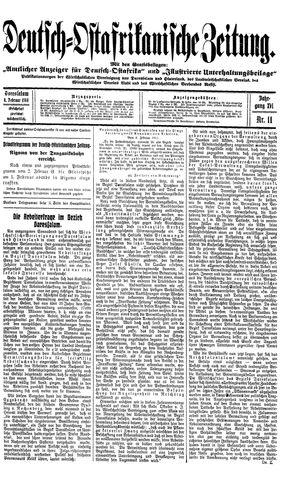 Deutsch-Ostafrikanische Zeitung on Feb 4, 1914